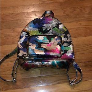 ASOS Metallic Camo Backpack